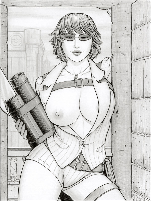 lady devil may cry art Zoey from left 4 dead