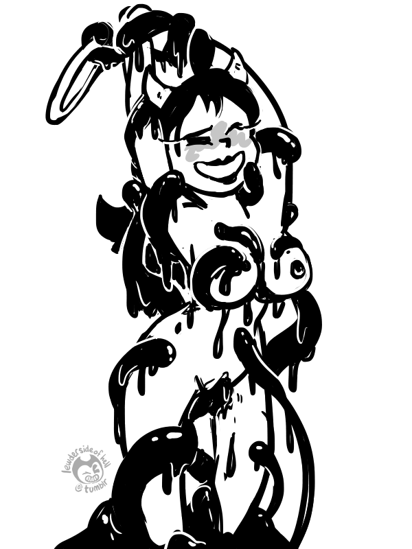 female and the machine ink bendy Is this a zombie ariel