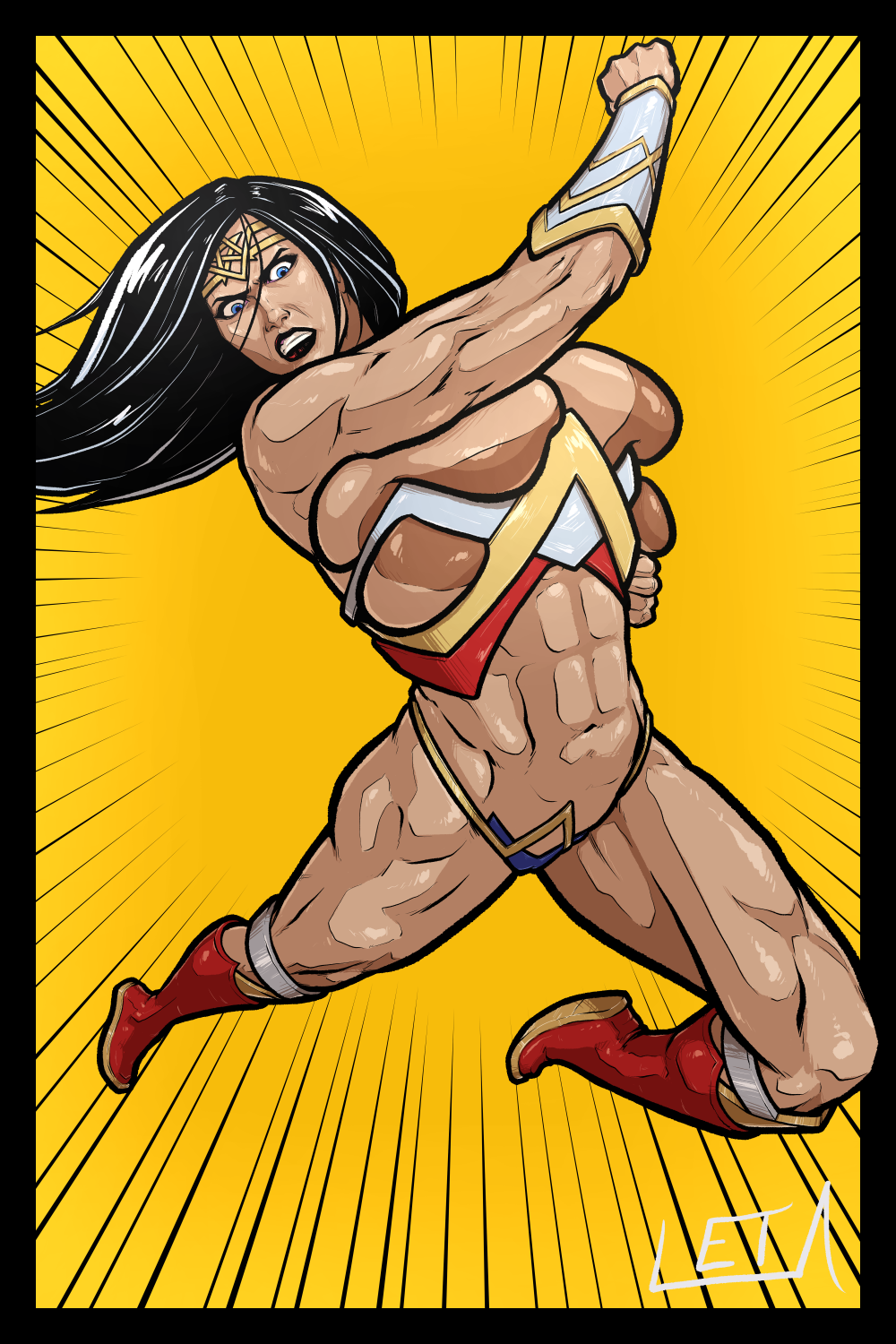league woman wonder naked justice Alps and the dangerous forest gallery